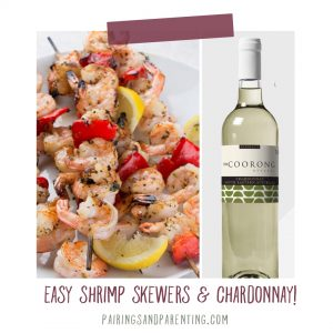 Easy Shrimp Skewers and Coorong Reserve Chardonnay