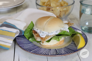 Lemon Pepper FIsh Sandwich