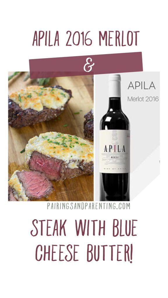 Steak with merlot