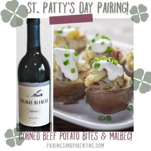 Corned beef bites & Malbec, St. Patty's Day Menu