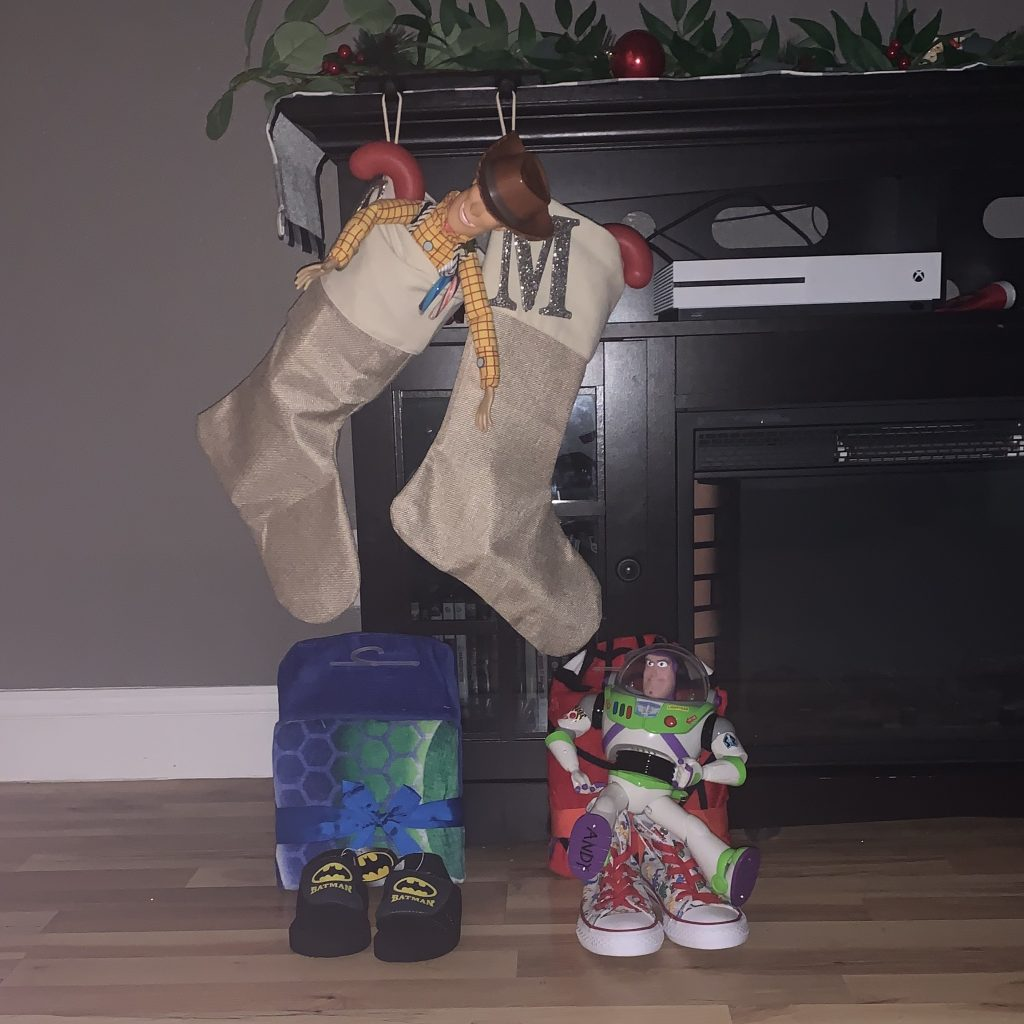 Santa filled Stockings