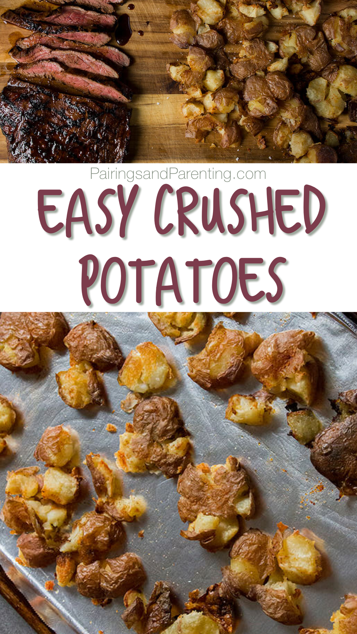 Easy Crushed Potatoes
