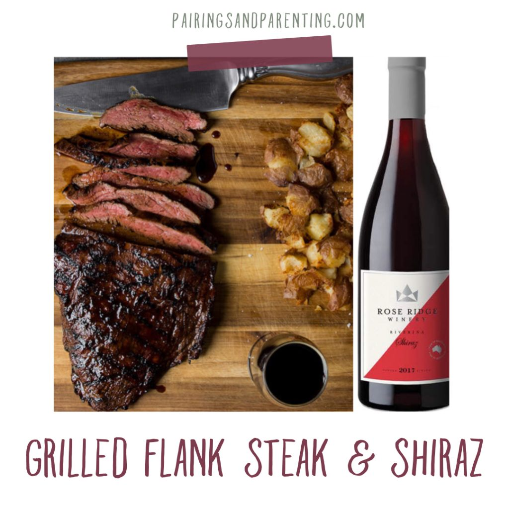 Grilled Flank Steak & Shiraz