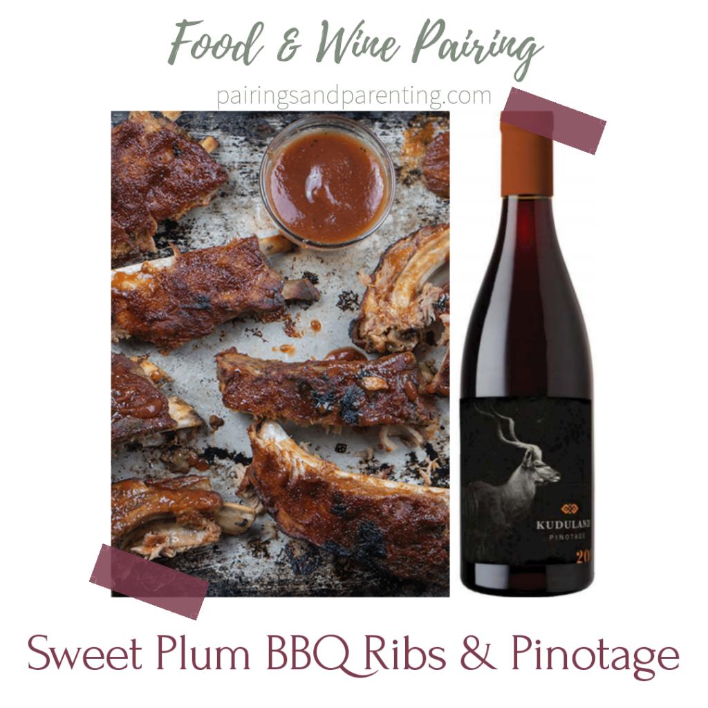 Sweet Plum BBQ Ribs & Pinotage