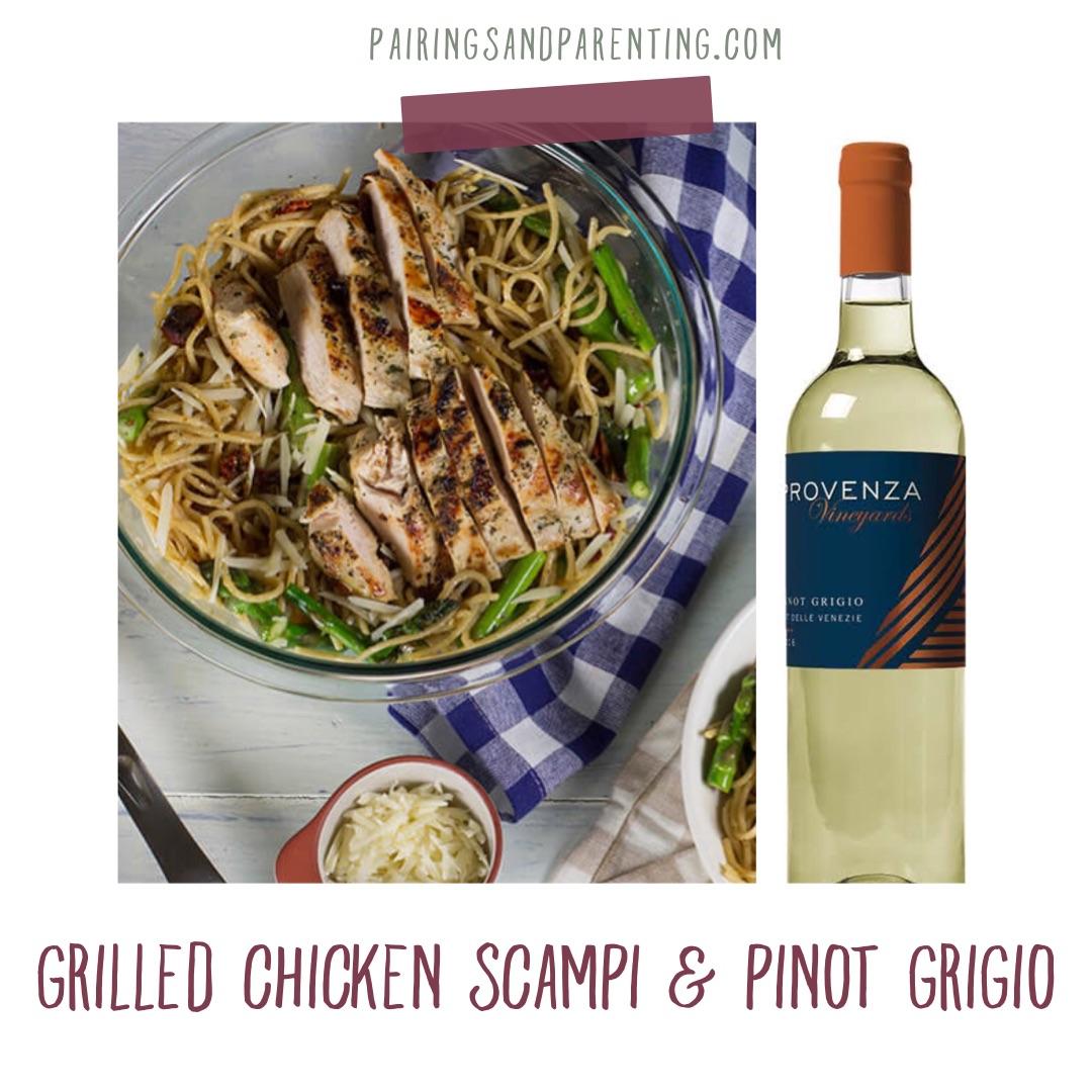 Grilled Chicken Scampi & Pinot Grigio