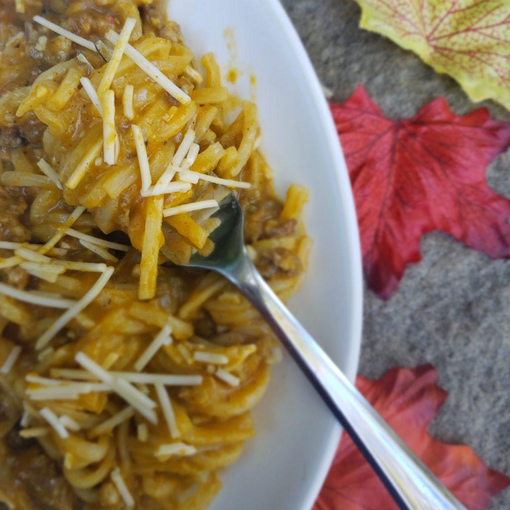 Fall Flavor Trends - Pumpkin Cardamom Pasta Bake